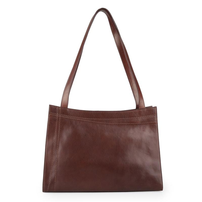 Dámská kožená kabelka přes rameno 67525 - hnědá 744ae514820
